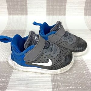 Nike RN Free Gray/Blue Tennis Shoes Sneakers Sz 6C